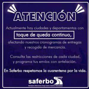 Toque de queda en departamentos de Colombia